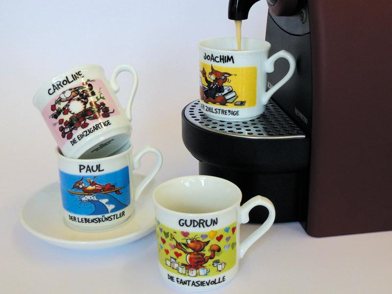 Espressotassen mit Namen