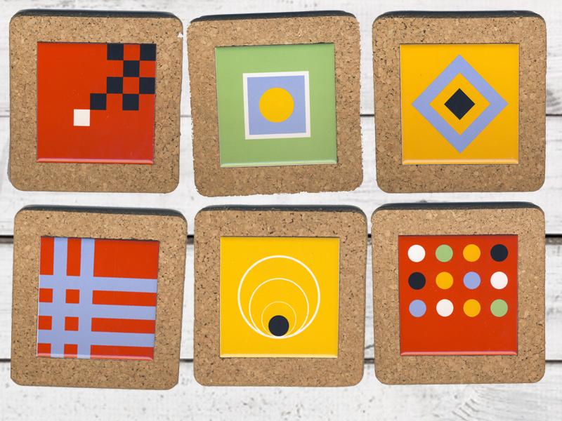 fuer jeden anlass keramik untersetzer kork round and square fuerhapter